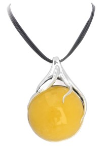 Yellow amber necklace Magnum