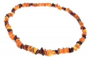 Cognac, yellow, cherry amber necklace