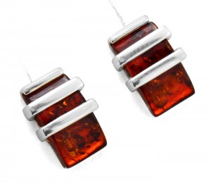 Cherry amber earrings