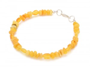 Bracelet with yellow Amber