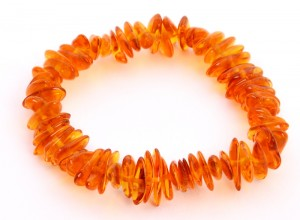Cognac amber bracelet - for children