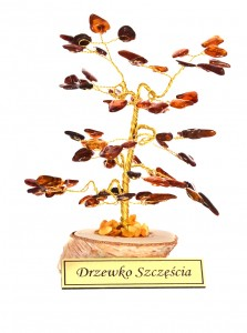Tree of good luck with cognac amber
