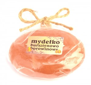 Amber and mud soap