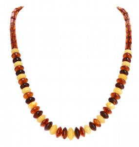 "Yellow and cognac amber necklace ""Galia"""