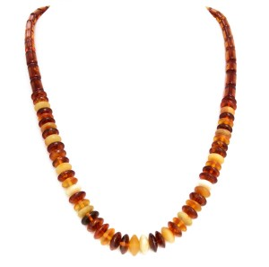 "Mixed colors amber necklace ""Galia"""