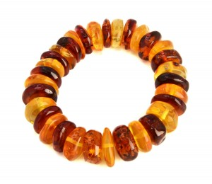 Cognac and yellow amber bracelet