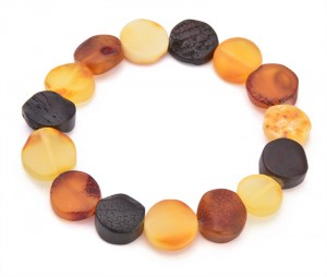 Mixed colors amber bracelet