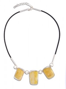 Yellow amber necklace Premium