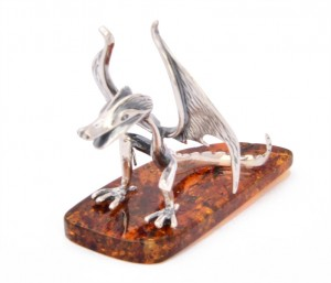 Fairytale dragon with cognac amber