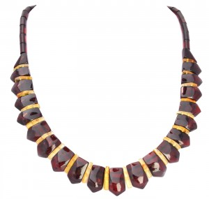 Mixed colors amber necklace Cleopatra