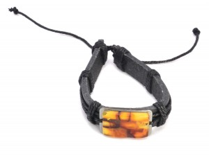 Amber mosaic bracelet for man