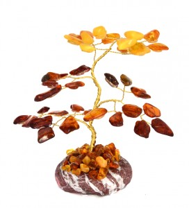Lucky tree with cognac and yellow amber