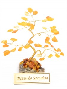 Yellow amber tree of good luck