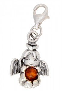 Cognac amber button Angel