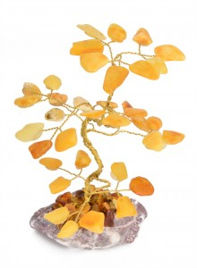 Lucky tree with yellow amber