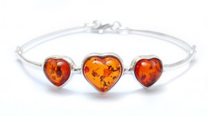Bracelet with cognac Amber