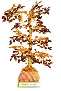 Cognac and yellow amber Tree of good luck