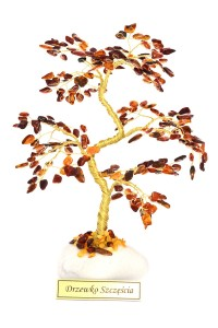 Cognac amber tree of good luck