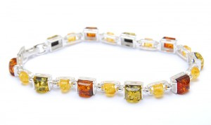 Bracelet with Three Colours of Amber