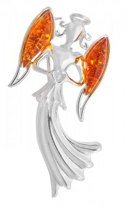 """Angel"" Amber Brooch"