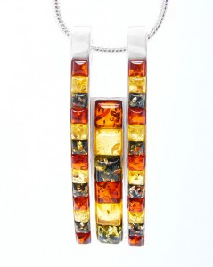 Mixed Colours Amber Pendant