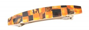 Hairclip with amber mosaic
