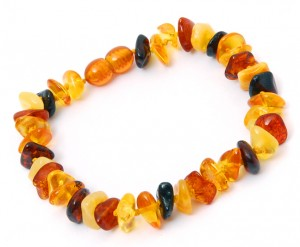 Baltic Amber Bracelet Mixed colors