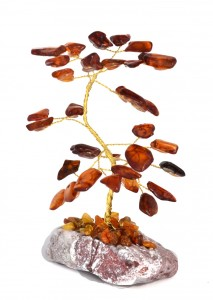 Lucky tree with cognac amber
